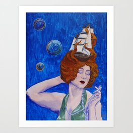 Siren's Song by Mary Bottom Art Print