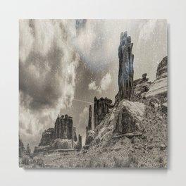 Moab Retro Panorama Metal Print