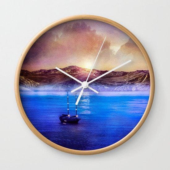 Blue/purple, trip. Wall Clock