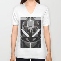 givenchy V-neck T-shirts featuring Givenchy tribal design by cvrcak