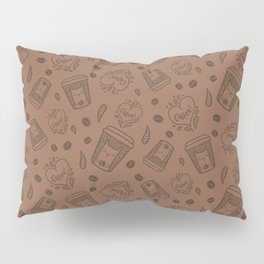Doodle coffee cat Pillow Sham