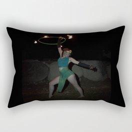 Halo of Fire - Fire Hoop Performance Rectangular Pillow