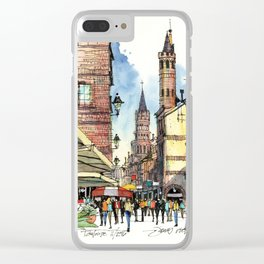 Rue du Taur, Toulouse Clear iPhone Case
