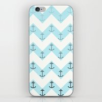anchors iPhone & iPod Skins featuring Anchors by Mercedes Lopez