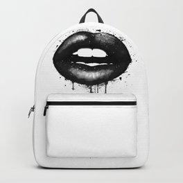 Black Lips Art Watercolor Print Kiss Love Sexy Girl Fashion Poster Lipstick Chic Makeup Decor Backpack