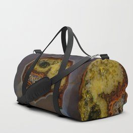 Patterns of colorful agate stone Duffle Bag