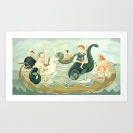 The Sea Carousel Dream by Emily Winfield Martin Art Print