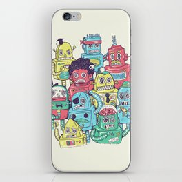 Robot's can't Smile iPhone Skin