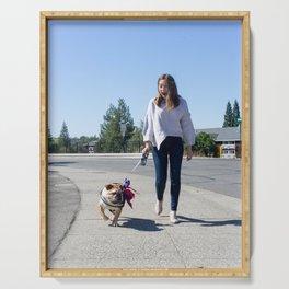 Dog by Clayton Cardinalli Serving Tray