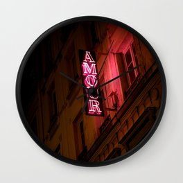 Oh l'amour indolence Wall Clock