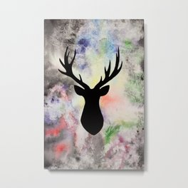 Black Deer Metal Print