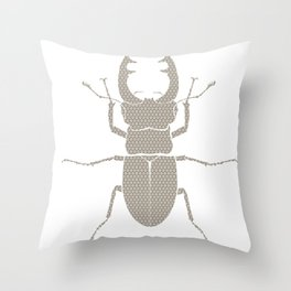 beetle with patterns Throw Pillow