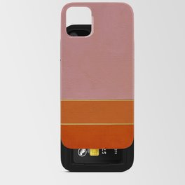 Orange, Pink And Gold Abstract Painting iPhone Card Case