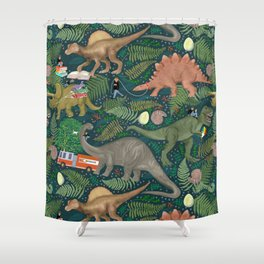 Dinosaur Fun Shower Curtain