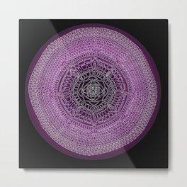 Envisioning on Black Background Metal Print