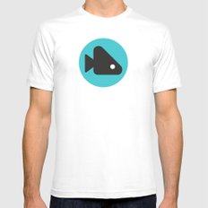 Fishie White MEDIUM Mens Fitted Tee