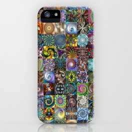 Fractals Montage iPhone Case