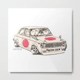 Crazy Car Art 0168 Metal Print