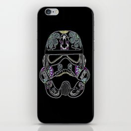 Day of the dead Storm Trooper head iPhone Skin