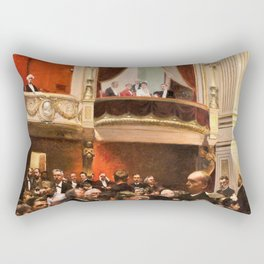 Paul Gustav Fischer - An Evening At The Royal Theatre - Digital Remastered Edition Rectangular Pillow