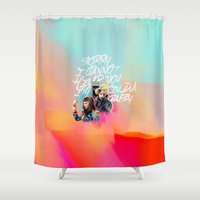 telephone Shower Curtains featuring telephone by evenstarss