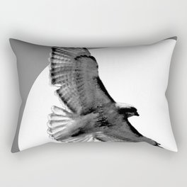 Contemporary Black White Hawk Bird Sun Flight Art A668 Rectangular Pillow