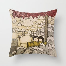 swept away & stranded Throw Pillow