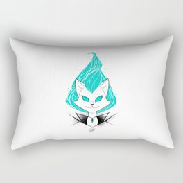 ScribbleNetty (Turquoise) Rectangular Pillow