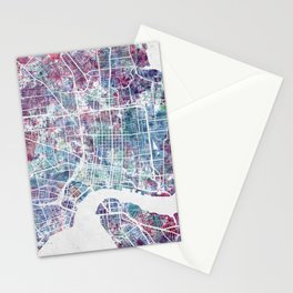 Jacksonville map Stationery Cards