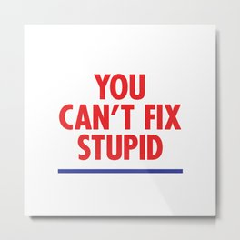 You Can't Fix Stupid Metal Print