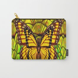 FANTASY YELLOW MONARCH BUTTERFLY LIME COLOR Carry-All Pouch
