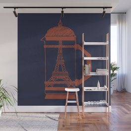 French Press... (Navy) Wall Mural
