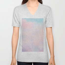 cotton candy dreaming Unisex V-Neck