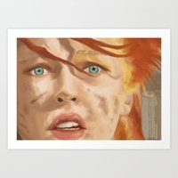fifth element Art Prints featuring The Fifth Element by WhiteeChess
