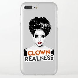 """Clown Realness"" Bianca Del Rio, RuPaul's Drag Race Queen Clear iPhone Case"
