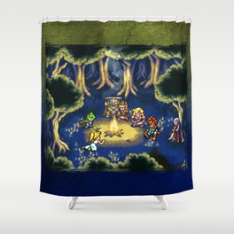 Chrono Trigger Camping Scene Shower Curtain