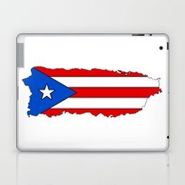 Puerto Rico Map with Puerto Rican Flag Laptop & iPad Skin