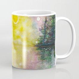 Crescent Moon Reflection Galaxy watercolor by CheyAnne Sexton Coffee Mug