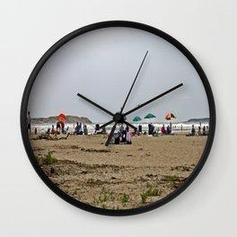 A Day at Popham Beach Wall Clock