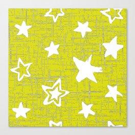 Star Pattern Designs, Yellow Designs, Home Decor Patterns Canvas Print