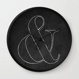 Ampersand blackboard Wall Clock