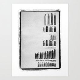 Relentless Recklessness 2 Art Print