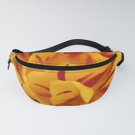 A Chaos of Reds and Yellows: in the Heart of a Triandrus Daffodil Fanny Pack