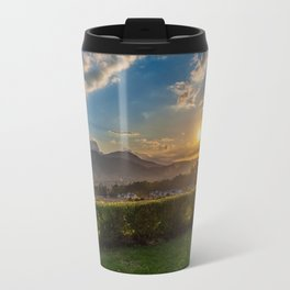 Sunset in Wine Country, Franschhoek, South Africa Travel Mug