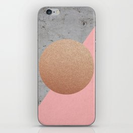 Abstract Shapes Rose Gold iPhone Skin