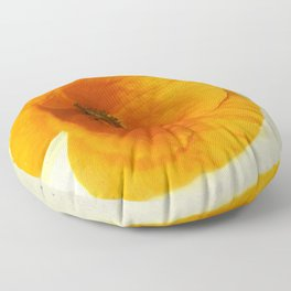 Lonesome Poppy Flower (Yellow version) Floor Pillow