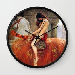 "John Maler Collier, "" Lady Godiva "" Wall Clock"