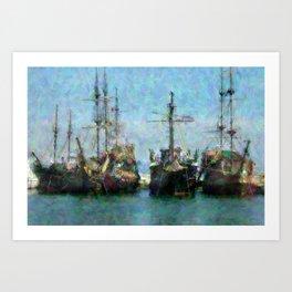 Buccaneers Art Print