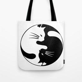 black and white cat yinyang Tote Bag