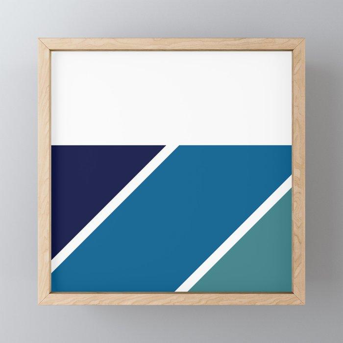 Pattern blue to green Framed Mini Art Print